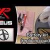 XP Deus Batterietausch, Version bis Juni 2010 (englisch)