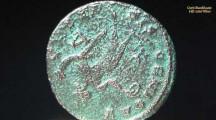 Römische und Griechische Münzen auf dem Präsentatiosteller