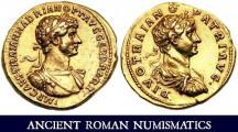 Römische Kaiser auf ihren Münzen